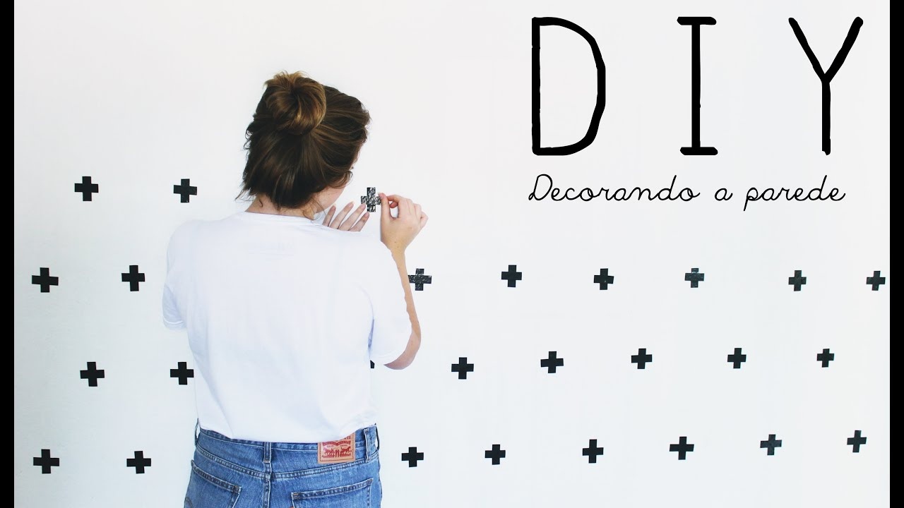Paredes Decoradas Diy Parede Decorada Com Fita Isolante 43 Youtube