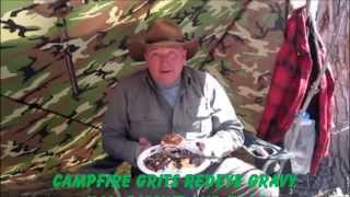 Camp Breakfast - Grits Redeye Gravy Ham Biscuit In Whelen Tent