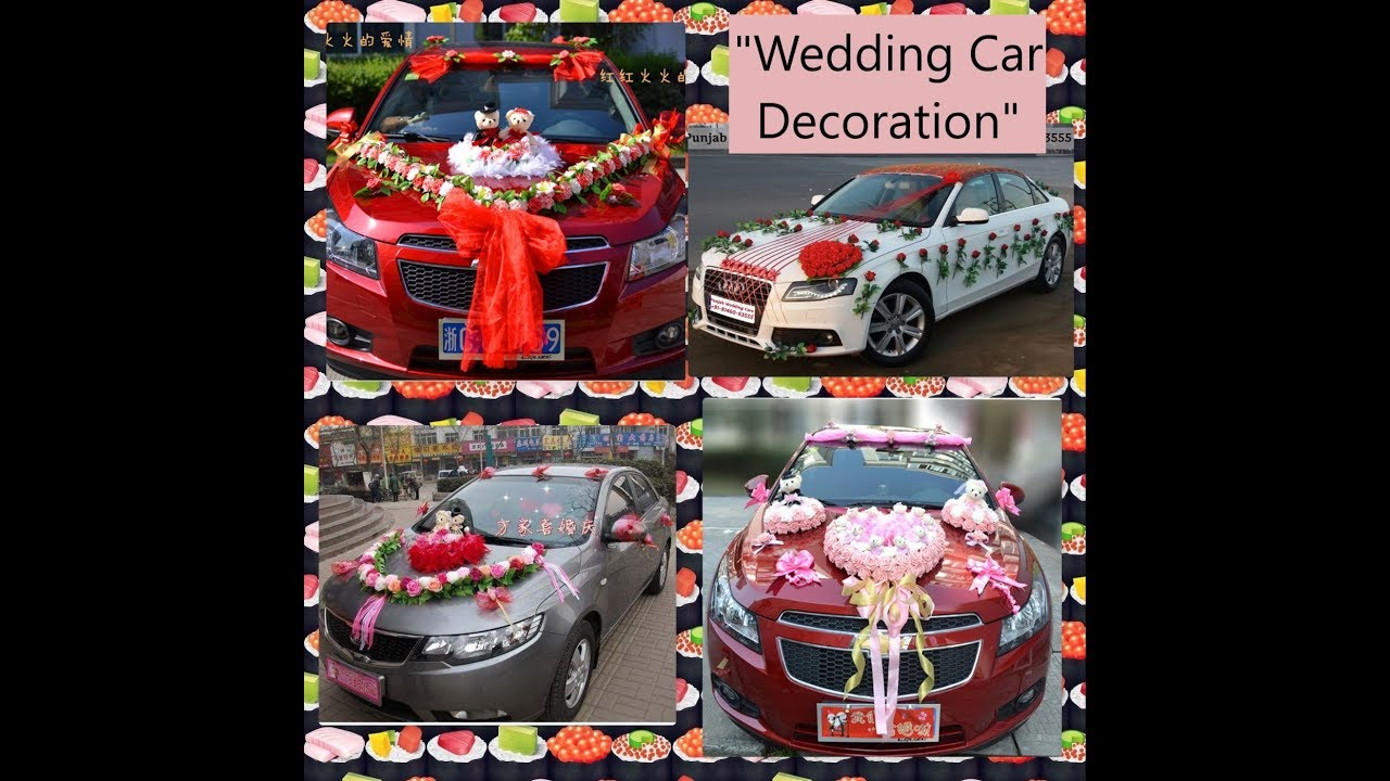 "+50 ""Elegant Wedding Car Decoration"" with ""Flowers"" - YouTube"