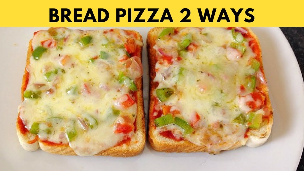 Bread Pizza Recipe On Tawa 2 Ways Bread Pizza Tawa Microwave By Huma In The Kitchen