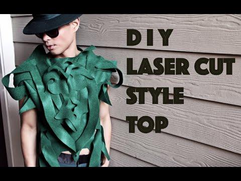 DIY  Avant Garde Laser Cut Style Top / Androgynous Fashion