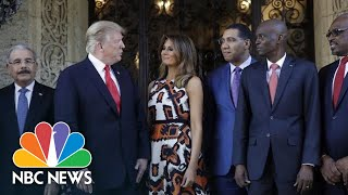 Trump Meets With Caribbean Leaders At Mar-A-Lago | NBC News