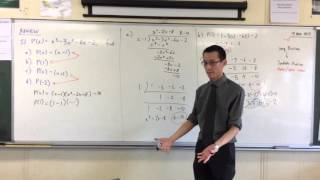 """Remainder & Factor Theorems (2 of 4: Finding out what caused the """"Coincidence"""")"""