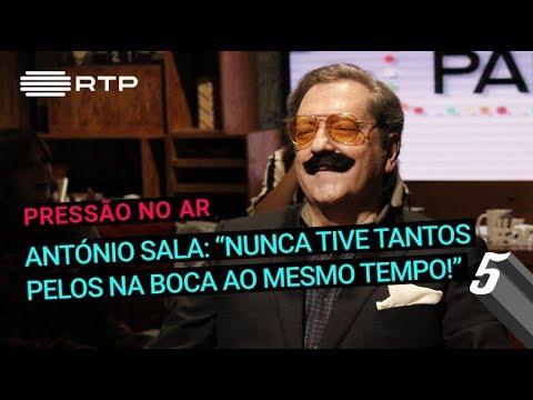 """António Sala: """"Nunca tive tantos pelos na boca ao mesmo tempo""""   5 Para a Meia-Noite   RTP"""