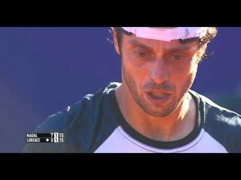 Rafael Nadal vs  Paolo Lorenzi. QF set-2 Argentina Open 2016