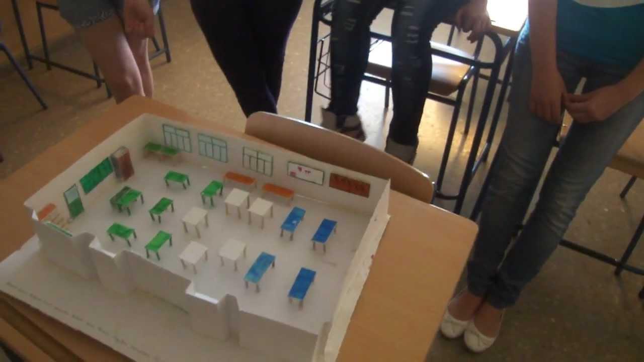 3ESO Maqueta aula taller escala 140 alumnosMP4  YouTube