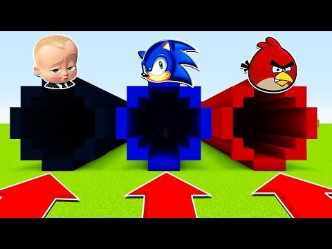 DO NOT CHOOSE THE WRONG TUNNEL(BOSSBABY, SONIC, ANGRY BIRDS) (Ps3/Xbox360/PS4/XboxOne/PE/MCPE)