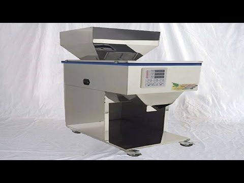 Grain seeds carbon beans powder filling weighing racking pack machine demo video مسحوق آلة التعبئة