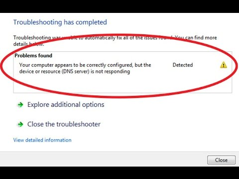 Computer appears to be correctly configured but the device or resource is  not responding Windows 10