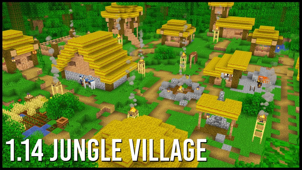 What Would A 1 14 Jungle Village Look Like In Minecraft?