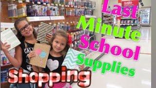Last Minute SCHOOL SUPPLIES Shopping/ Target