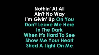 Shed A Light lyrics Karaoke Robin Schulz & David Guetta feat Cheat Codes