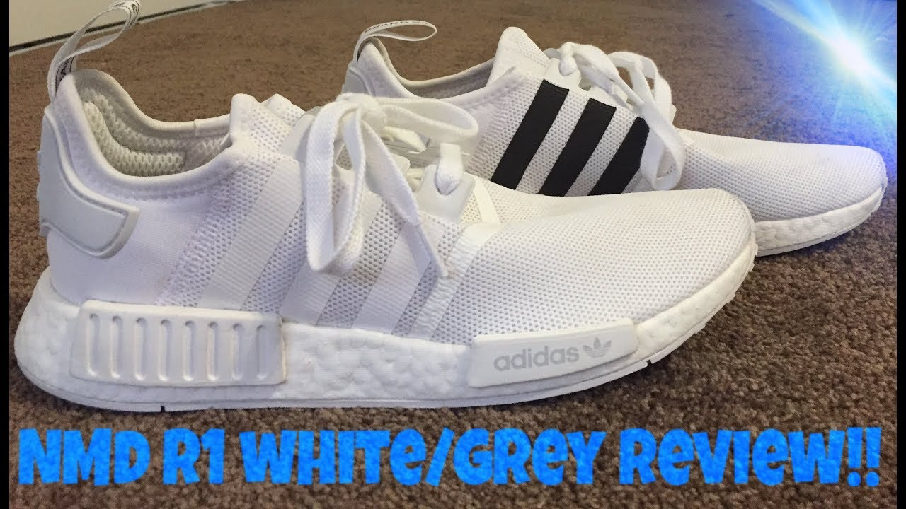 """cfef511aa NMD R1 """"WHITE GREY"""" REVIEW + TEST WEAR - YouTube"""