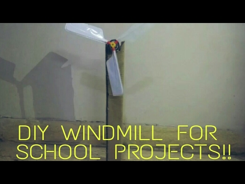 DIY WINDMILL FOR SCHOOL PROJECTS..