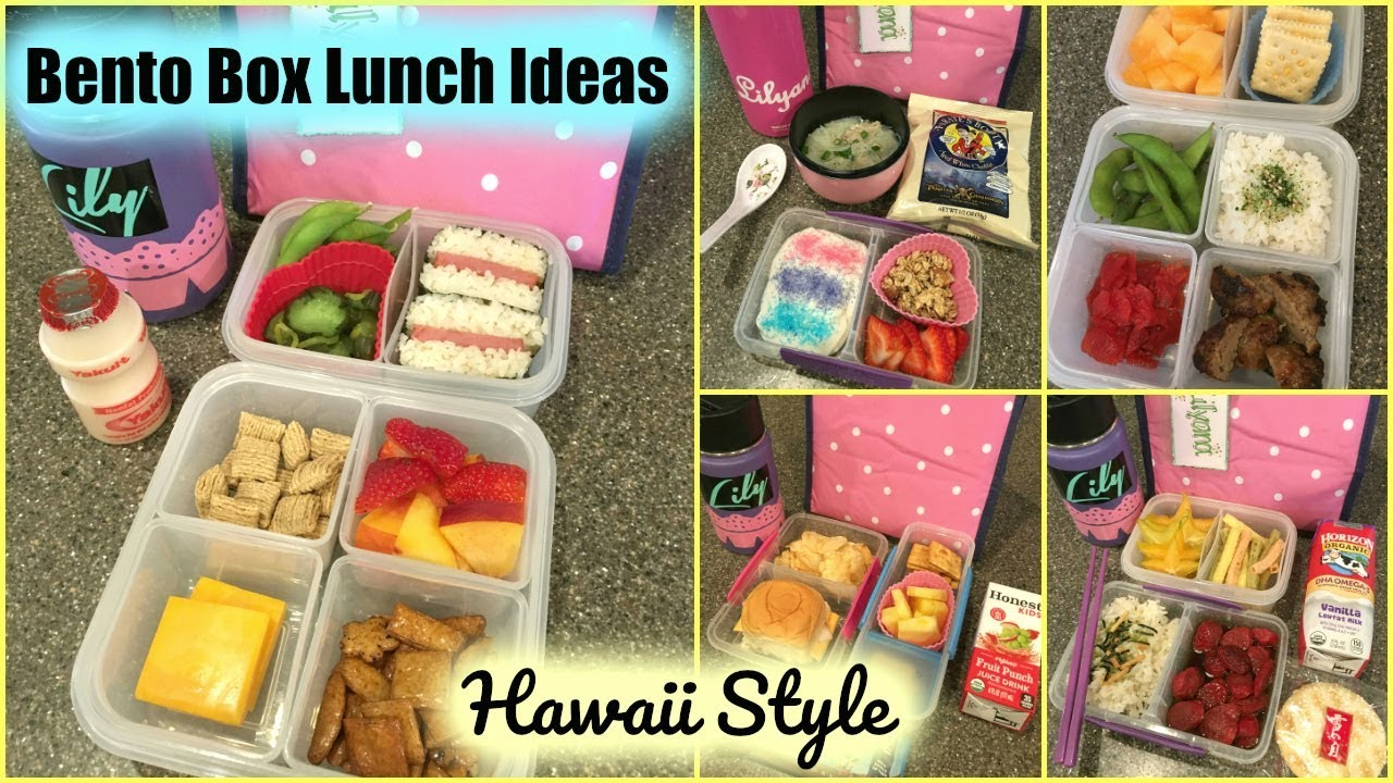 bento box lunch ideas hawaii style week 1 youtube. Black Bedroom Furniture Sets. Home Design Ideas