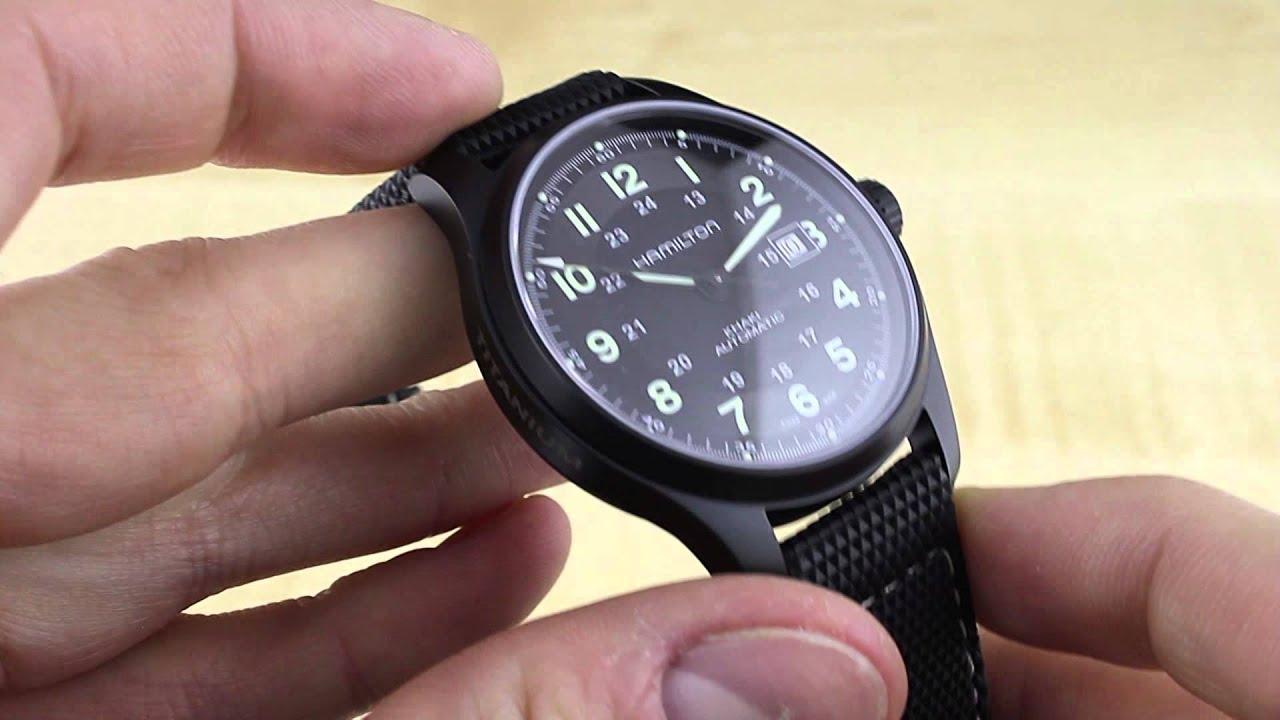 14f9660db76 Hamilton Khaki Field Titanium Auto Watch Review