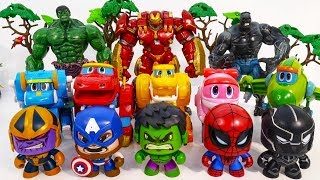 Marvel Super Hero HULK, SPIDER MAN, CAPTAIN vs SUPER WINGS Army Of THANOS~ GO GO GO! #Toysplaytime