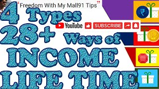 HOW TO MAKE MORE MONEY & LIFETIME INCOME WITH MALL91? (4 Types 28+ Ways )