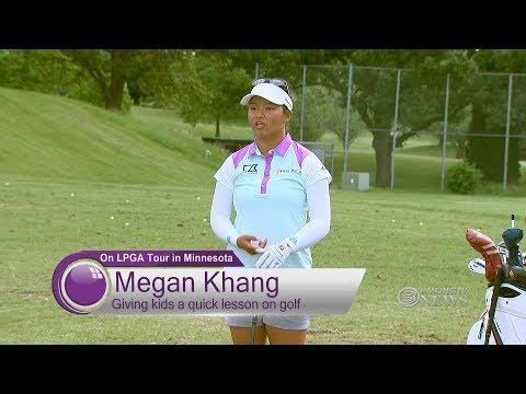 3 HMONG TV NEWS - Professional Hmong American Golfer Megan Khang Gives Kids Quick Golf Tips.