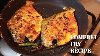 Spicy Pomfret Fry Recipes | Pomfret Fry Indian Style | Quick Pomfret Fry | Sunday Recipes