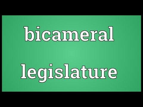 Bicameral legislature Meaning