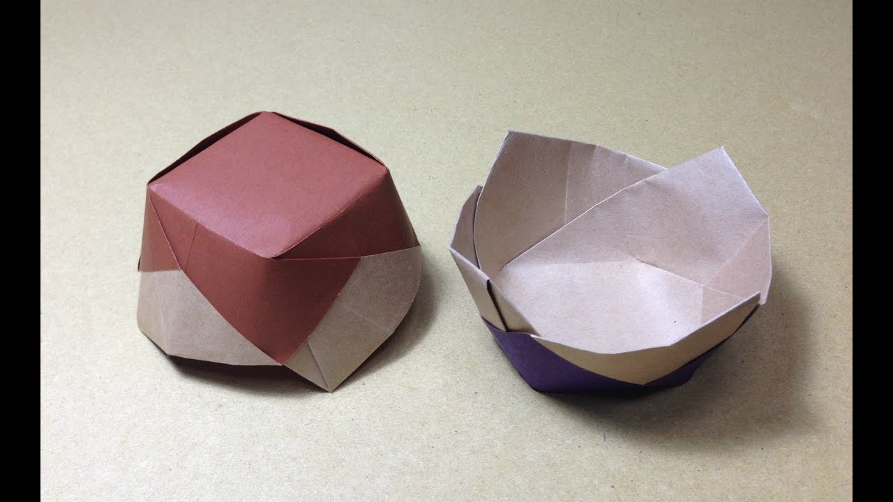 how to make a paper ceramics origami flower vessel