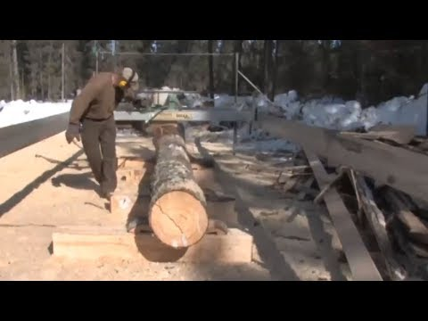 Horselogging: Timber to Cabin 2  - The Sawmill