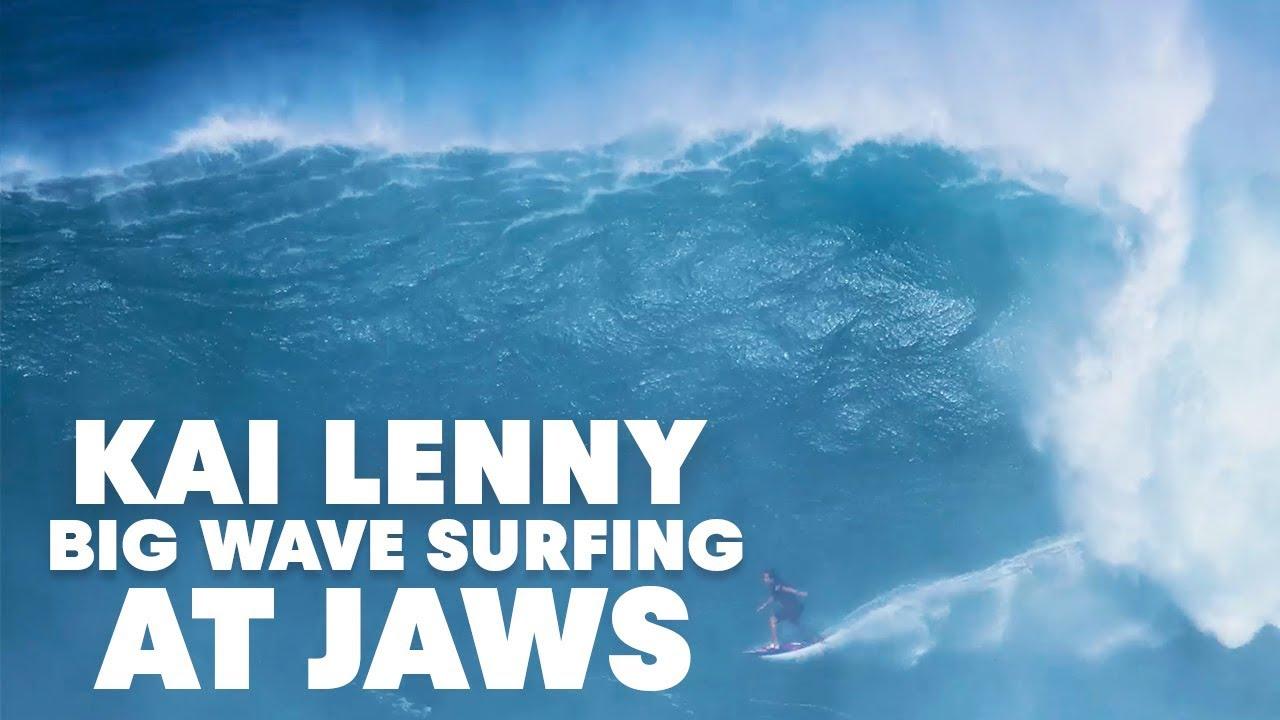 Kai Lenny Tows Into Massive Jaws