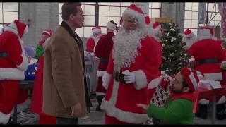 Массовая драка с Санта Клаусами...отрывок(Подарок на Рождество/Jingle All the Way)1996