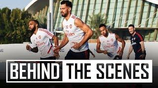 Arsenal squad train in Dubai | Behind the scenes