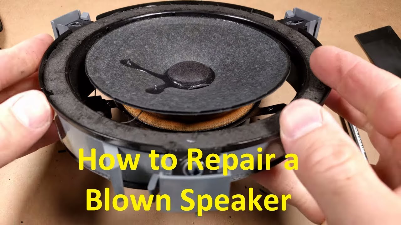 How to Repair a Blown Speaker