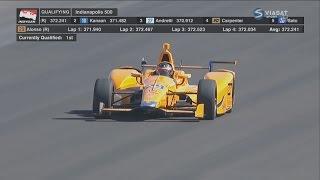 IndyCar Series 2017. Pole Day Indy 500. Fernando Alonso Run
