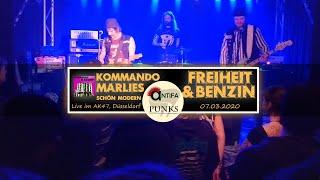 Kommando Marlies - Freiheit & Benzin (live @AK47 07.03.2020) | Antifa Punks