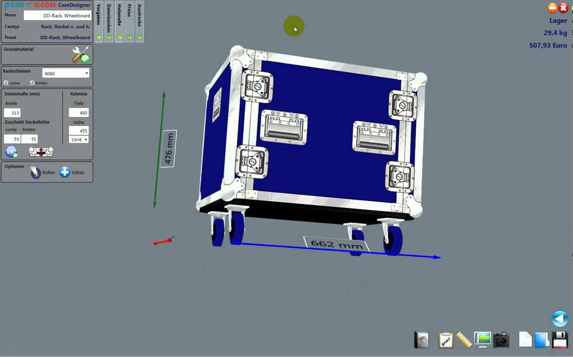 Flightcase Construction Penn Elcom Casedesigner Youtube