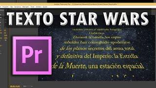 Premiere: Texto Star Wars  desplazamiento en perspectiva