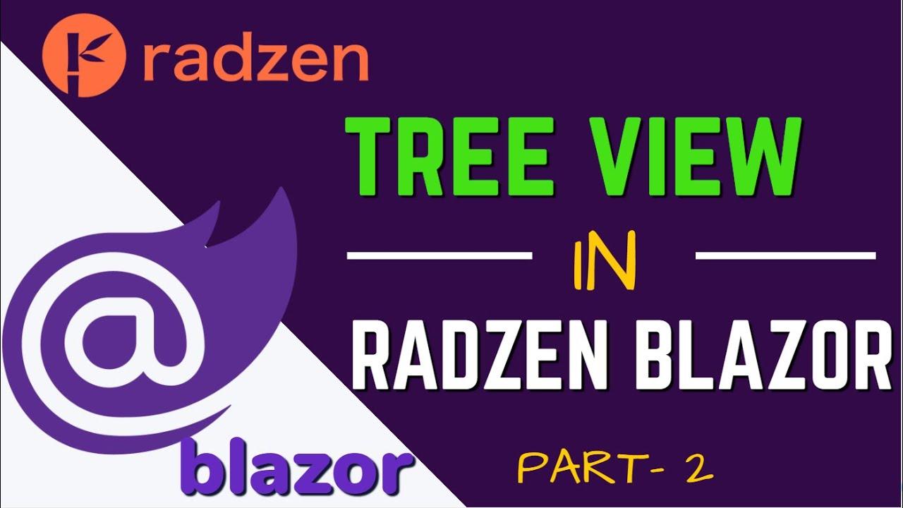Radzen Blazor Tree Part-2