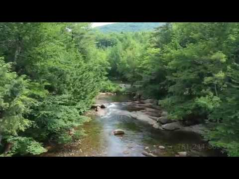 Pemigewasset River Lincoln New Hampshire Drone Video 4K