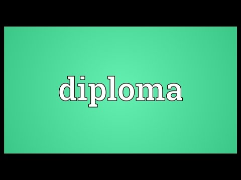 Diploma Meaning