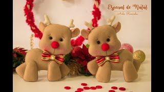 Aula de feltro - especial de natal - rena