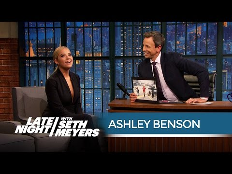Ashley Benson's Craziest Pretty Little Liars  Encounter  Late Night with Seth Meyers