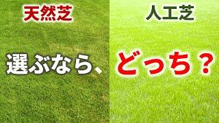 ああ、もうわかんない。 人工芝と天然芝をどっちが良いの??【徹底比較】