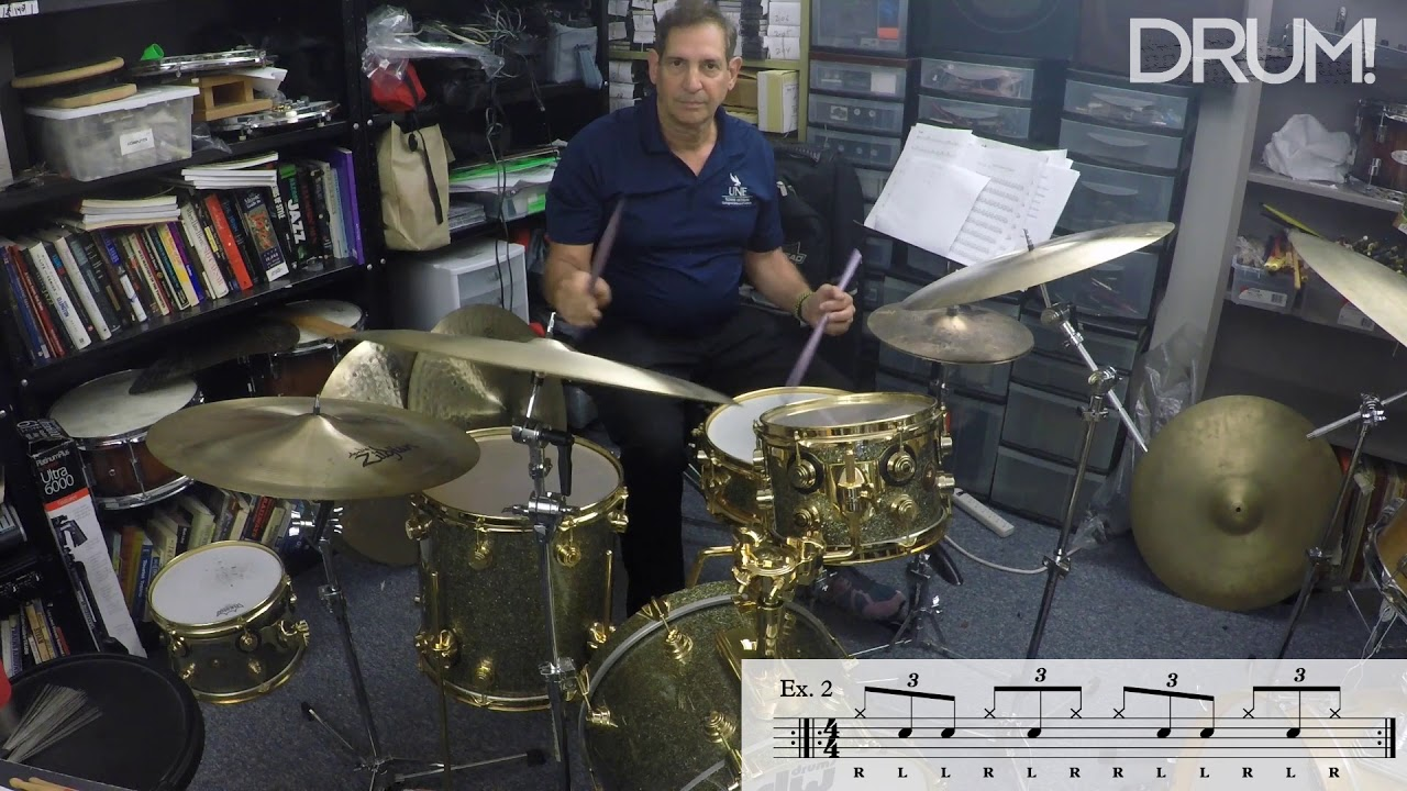 drum lesson jazz get a faster ride cymbal with paradiddle diddles youtube. Black Bedroom Furniture Sets. Home Design Ideas