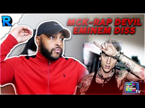 RAP DEVIL X MGK (EMINEM DISS) | HE THROWING CRAZY SHOTS | REACTION