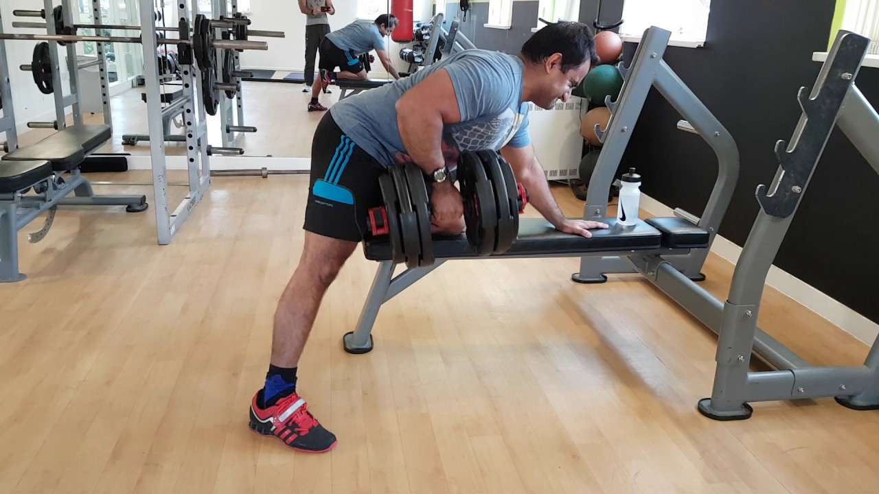 54kg Rows Using Olympic Dumbbell Handles Youtube