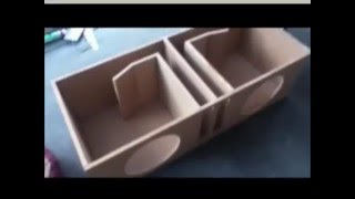 dual 12 inch ported subwoofer box w commodoresubwoofers how to