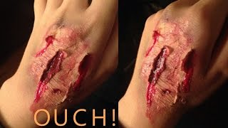 DIY wound without liquid latex! *EASY-Perfect for Halloween!* Thumbnail