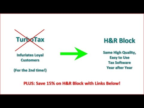 TurboTax Users Outraged - Use H&R Block For Online Tax Preparation Instead