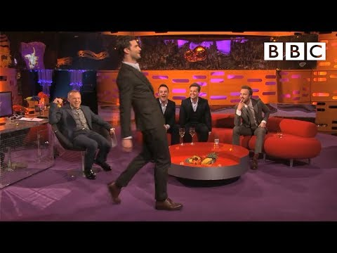 Jamie Dornan's funny toe-to-more-toe walk | The Graham Norton Show - BBC