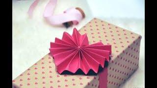Easy Valentine day craft   DIY   Easy paper heart decoration idea.  💖