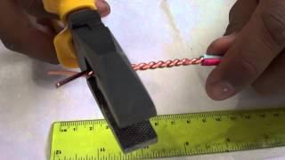 Emenda Rabo de Rato feita com 2 fios de 2,50mm2.
